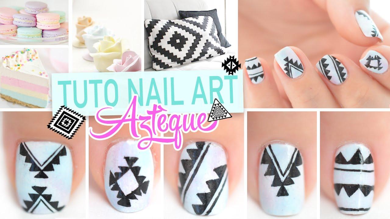 Nail art ♡ Aztèque (4 motifs) - YouTube