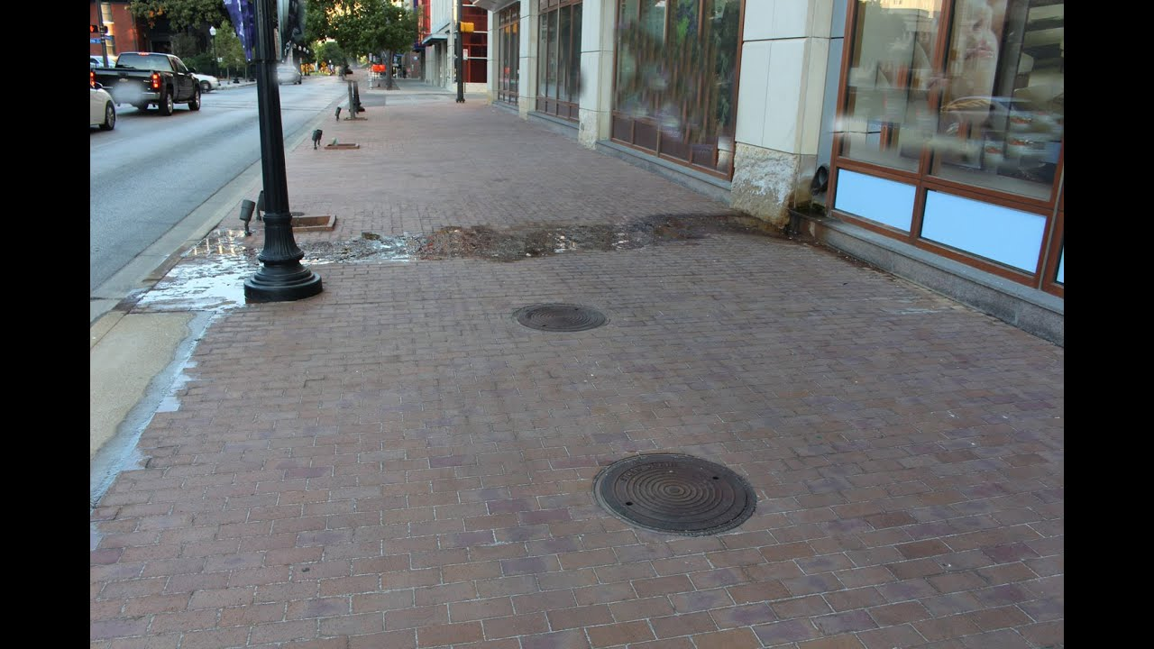 Water From Roof Drain On Sidewalk Could Mean Air