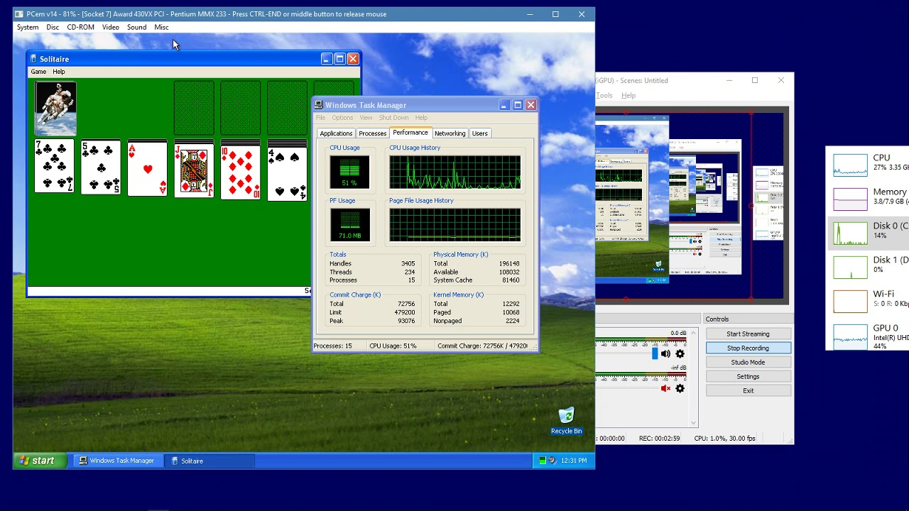Windows XP in PCem