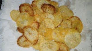 Crispy Potato Chips Recipe/Bengali Potato Chips Recipe