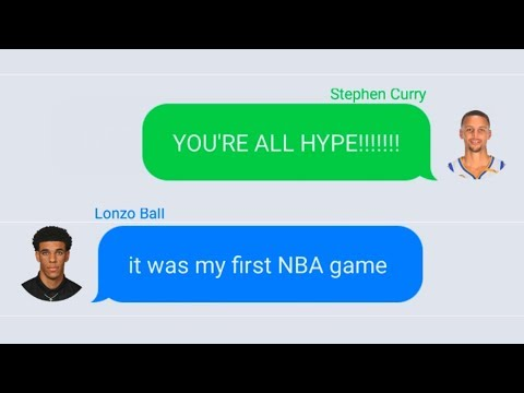Download Youtube: Stephen Curry Texting Lonzo Ball After NBA Debut