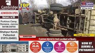 8 person injured in truck accident at Bandipora