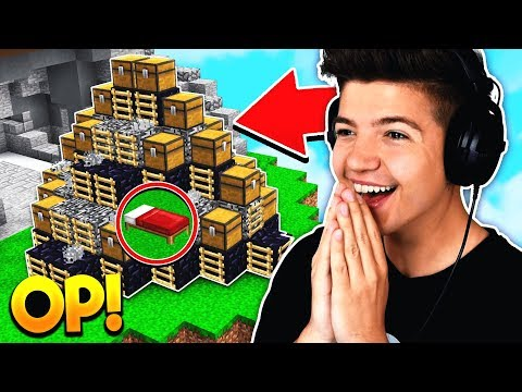 WORLDS MOST OP BED DEFENSE! | Minecraft BED WARS
