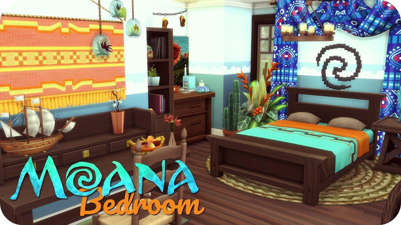 MOANA THEMED BEDROOM | Sims 4 Disney Room Build - YouTube