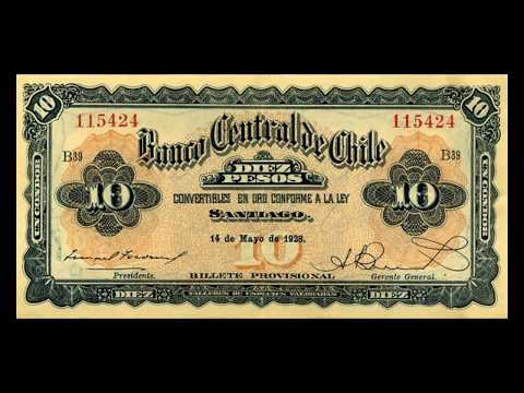 All Chilean Peso Banknotes - Banco Central de Chile - 1927 to 1930 Issues