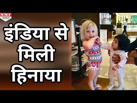 Harbhajan Singh की Daughter Hinaya Heer मिली Jonty Rhodes की बेटी India से