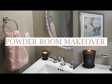 Blush Powder Room Makeover | Shop & Decorate With Me | Bathroom Decor Inspiration | Erica Lee
