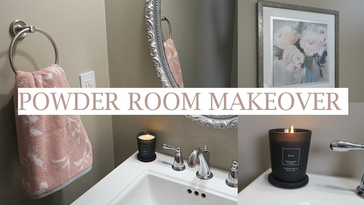 Blush Powder Room Makeover Shop Amp Decorate With Me