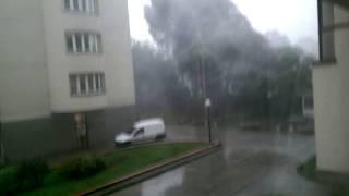 Wichura powala drzewa - Warszawa 2017-06-29