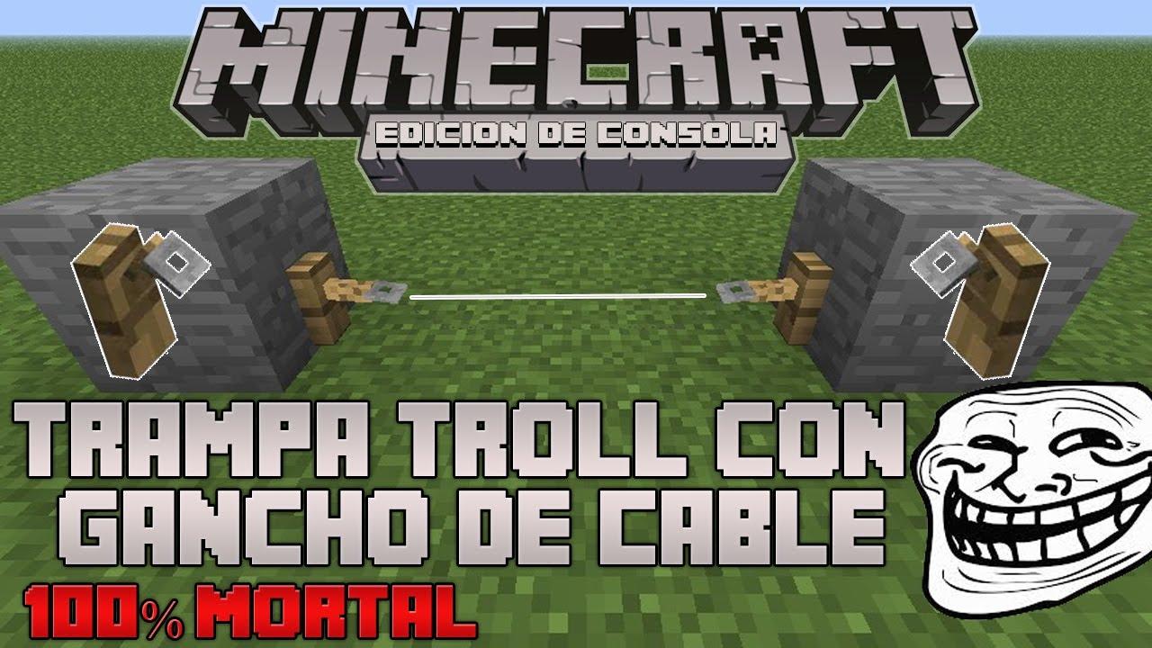 Minecraft Xboxps3 Tutorial De Trampa Con Ganchos De Cuerda Muy Simple