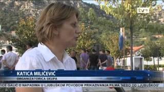 Protesti Zbog Filma Neđo Od Ljubuškog   Dnevnik TV1 21.07.2012.