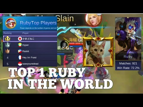 Top 1 Ruby Global Gameplay | Mobile Legends