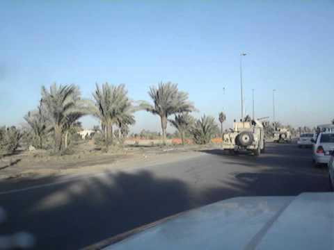 Regular SNAFU ride on Route Irish, Baghdad, Iraq (Nov 2005)