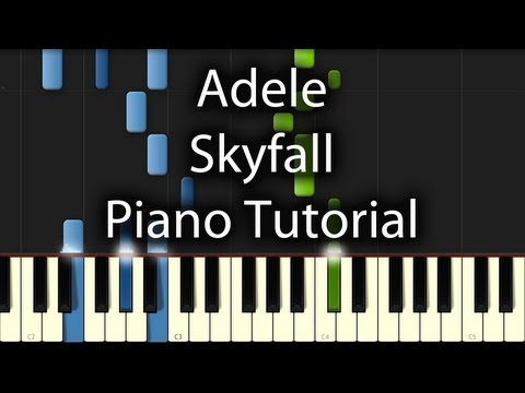 Adele - Skyfall Tutorial (How To Play On Piano) 007 Theme OST