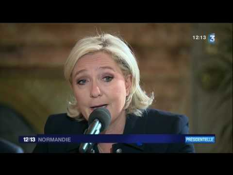 interview de Marine Le Pen en Normandie 28-04-2017