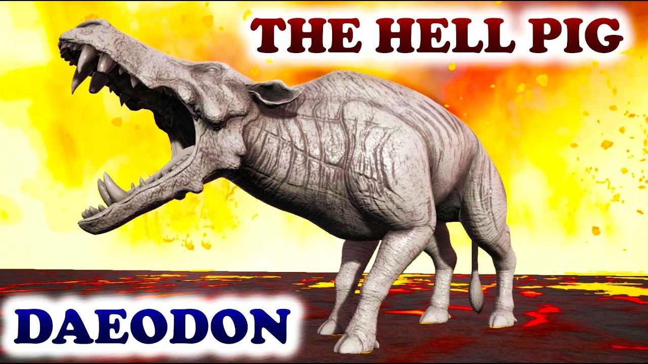 Daeodon Alchetron The Free Social Encyclopedia The daeodon (or 'hell pig') is a vicious pig. daeodon alchetron the free social