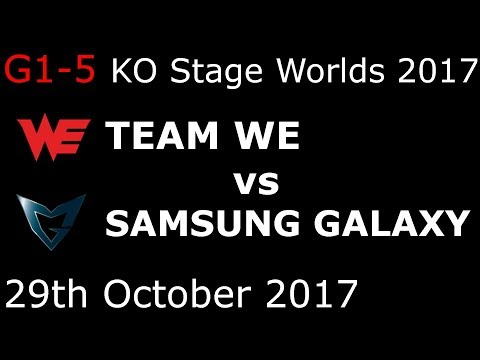 WE vs SSG Game 1-5 FULL HIGHLIGHTS 2017 WORLDS SEMIFINALS