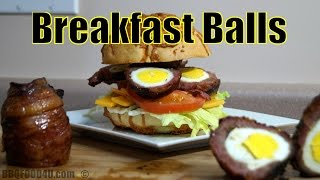 Breakfast Recipe - Bacon - Eggs - Sausage Balls - BBQFOOD4U