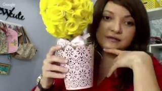 Flor de feltro – Topiaria