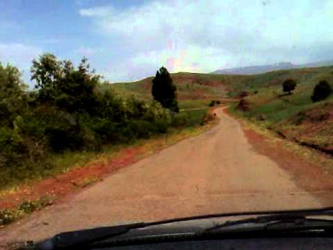 Driving crossing the Western High Atlas National Park Morocco