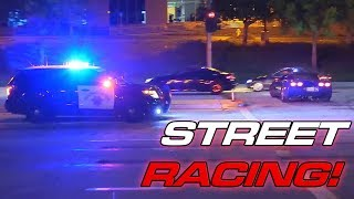 13min of Illegal Street Racing + Cops!