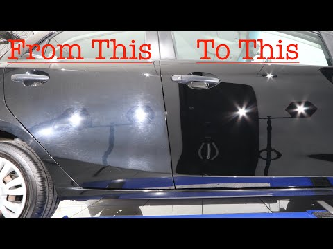 How To Polish A Car Door - Paint Correction!