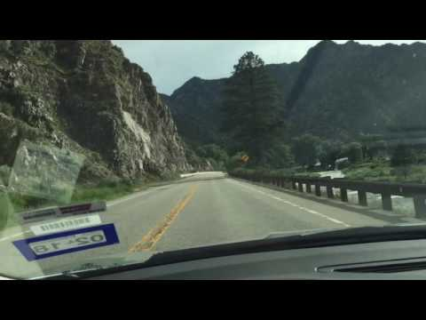 Driving along Arkansas River in Rocky Mountains