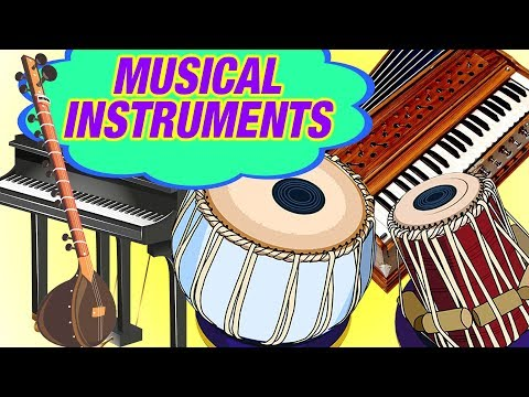 Musical Instruments Names   Animated Video For Kids   Musical Instruments For Children