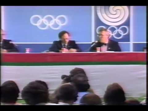 COA Press Conference on Ben Johnson (Seoul 1988)