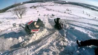 Школа горного вождения снегохода 4 группа 15 16 02 2015