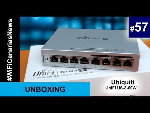 台灣公司貨 UBNT UniFi Switch US-8-60W 8埠 GIGA POE交換器-含稅含運