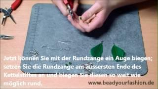 Schmuck herstellen - DIY Projekt 11: Feder Ohrringe herstellen Thumbnail
