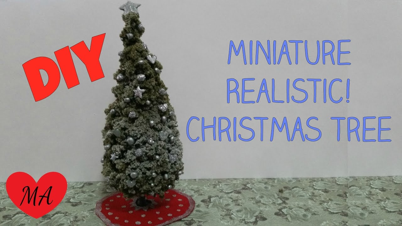 Miniature Christmas Tree Tutorial Dollhouse Diy Review