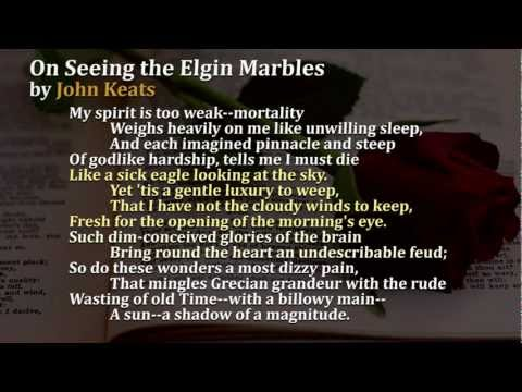 """Sonnets Video 8 """"On seeing the Elgin Marbles"""""""