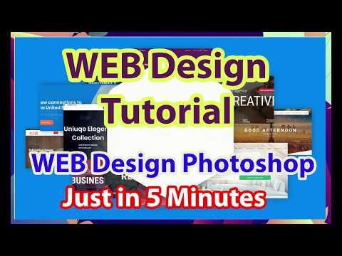Web Designing Tutorial 2019| Web Design Photoshop | Without Out Any Graphic Skills