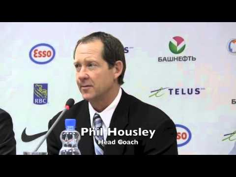 Team USA Coach Phil Housley & Players After Loss to Russia at 2013 IIHF World Junior Championship