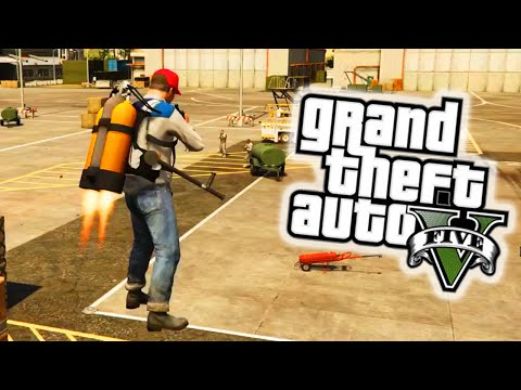 GTA 5 PC Mods - JETPACK MOD! GTA 5 Jetpack Mod Gameplay & Flying Firefights! (GTA 5 Mods)