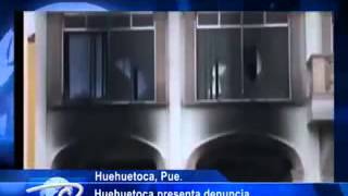 Huehuetoca, Puebla.-  Huehuetoca presenta denuncia.  Tras incendiar presidencia municipal.
