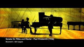 Hindemith Flute Sonata - mvt. ii. Sehr Langsam