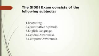 SIDBI Assistant Manager Exam Paper Pattern 2015-2016