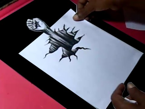 How to draw 3d art hand drawing for kids step by step
