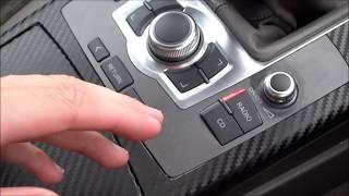 Audi a6 Folieren MMI Bedienteil mit Carbon Folie