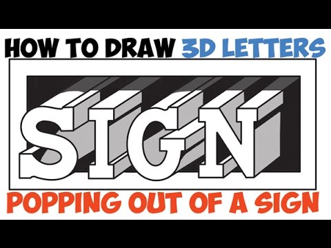 How To Draw Cool Letters For Beginners 3D Easy Step By Drawing Tutorial