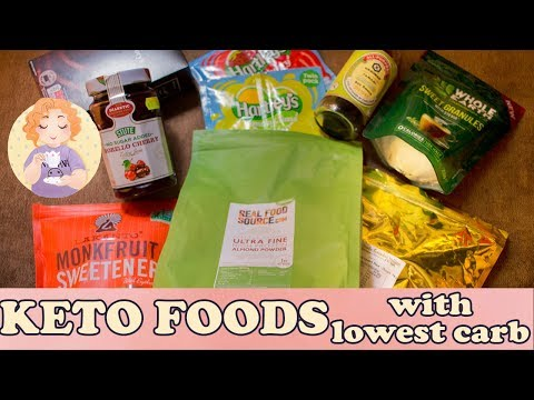 Keto Foods - Essential Low Carb Food Shopping list for UK and US Carb Food Labels June's Favourites