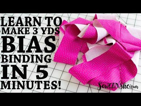 DIY Continuous Bias Binding - Super Fast Sewing Tutorial!