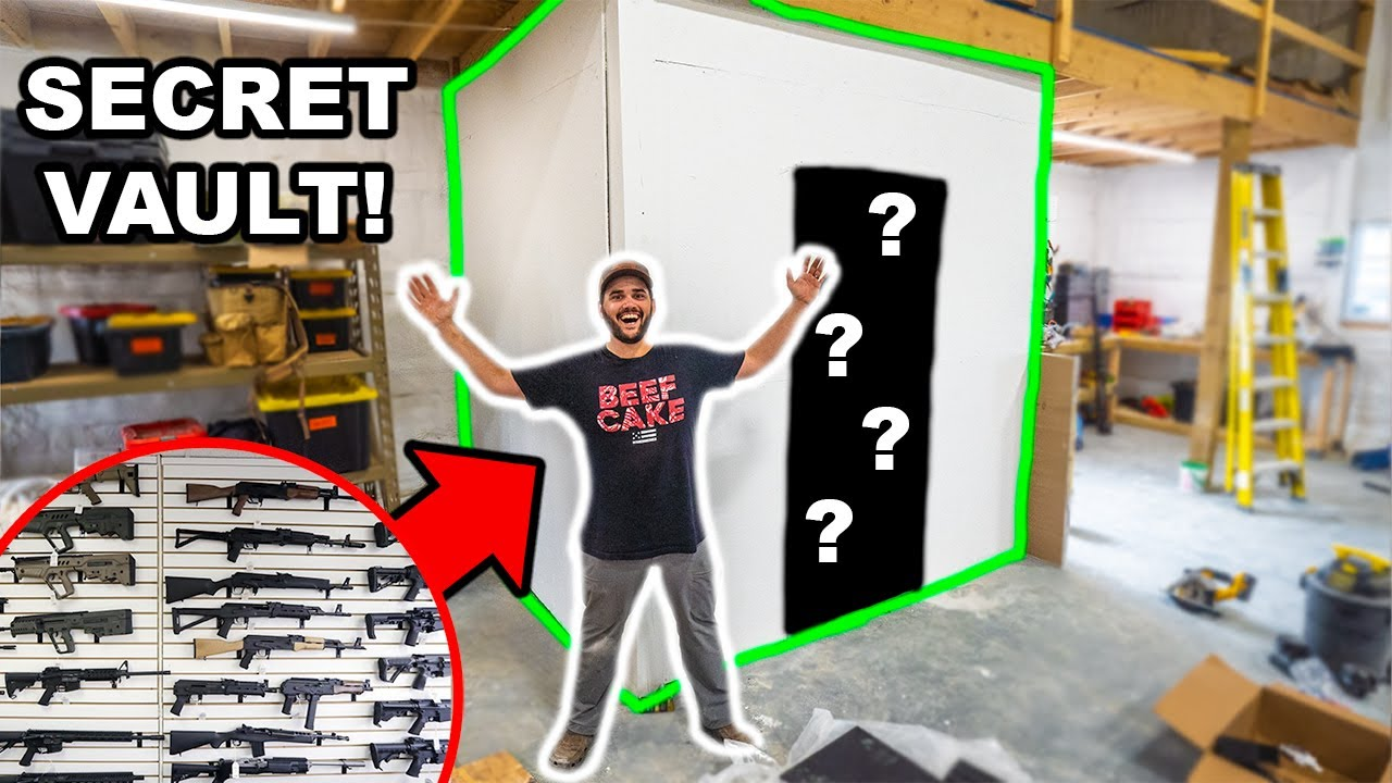 Building a GIANT SECRET VAULT in My GARAGE!!! (DIY WALK-IN SAFE)