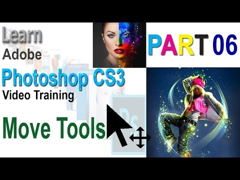 Adobe Photoshop Cs3 Bangla Video Tutorial Part 6 Move Tool| How to use Move Tools