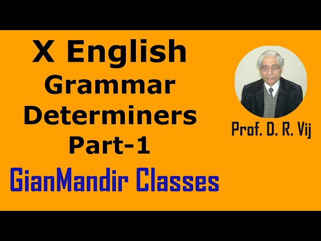 X English | Grammar | Determiners Part-1 by Nandini Ma'am
