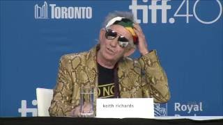 KEITH RICHARDS: UNDER THE INFLUENCE Press Conference | TIFF 2015