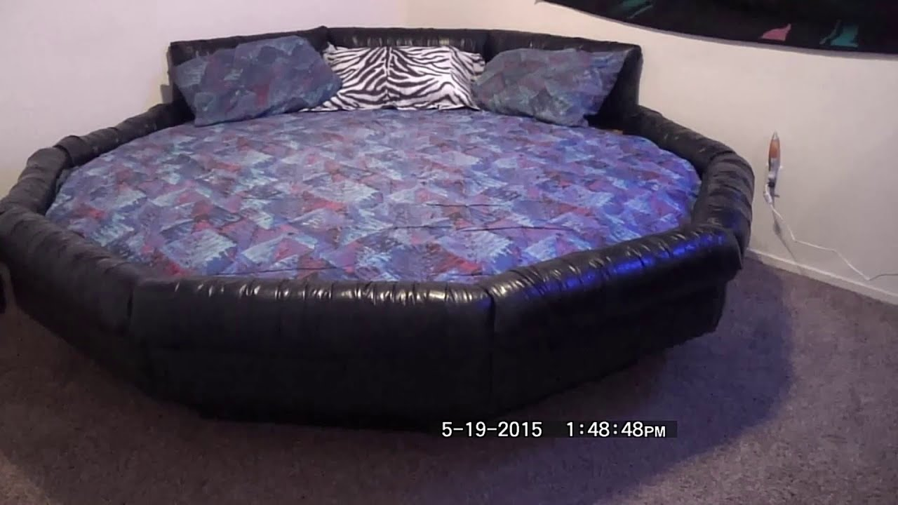 Bedroom Round Waterbed Assembly YouTube - Waterbed bedroom furniture